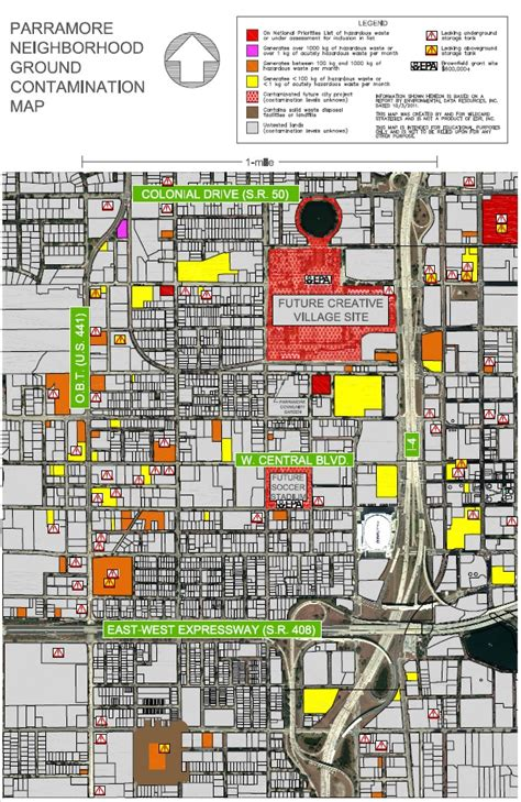 Superfund Map by Contamination In Orlando Earth Day Warning For Parramore