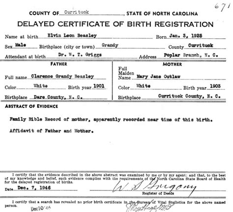 Nc Vital Records Birth Certificate Currituck Co Nc Birth Certificates