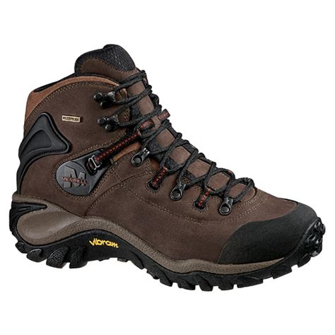 s discount hiking boots s merrell 174 phaser peak waterproof hikers brown