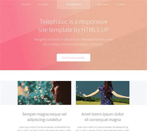 html5 templates responsive free 45 free responsive html5 templates instantshift