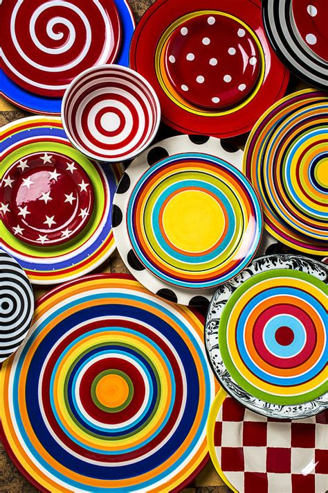colorful plates photograph by garry