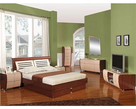Bedroom Furniture Sets Ready Made Modern Made In Italy Two Tone Storage Bedroom Set 44b4211