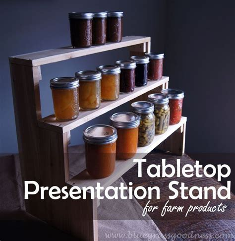 Spice Rack Risers Diy Tabletop Presentation Stand For Farm Products Photo
