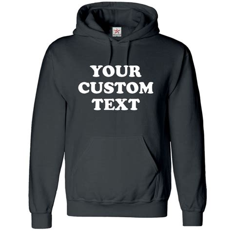 personalised front chest text printed on hoodie