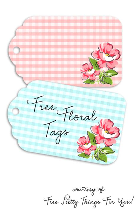 flower tags template free 7 best images of pretty free printables free quote