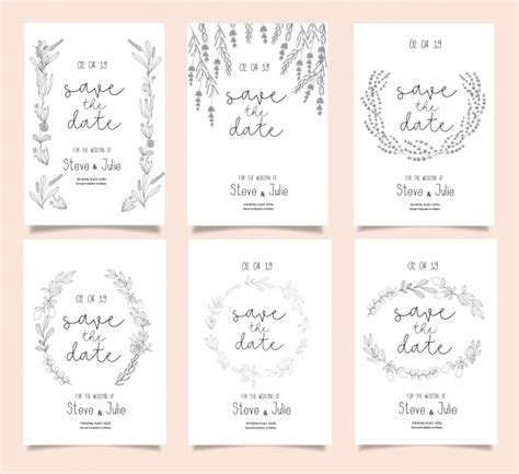 wedding invitation card suite with flower templates free wedding invitation card suite with flower templates vector