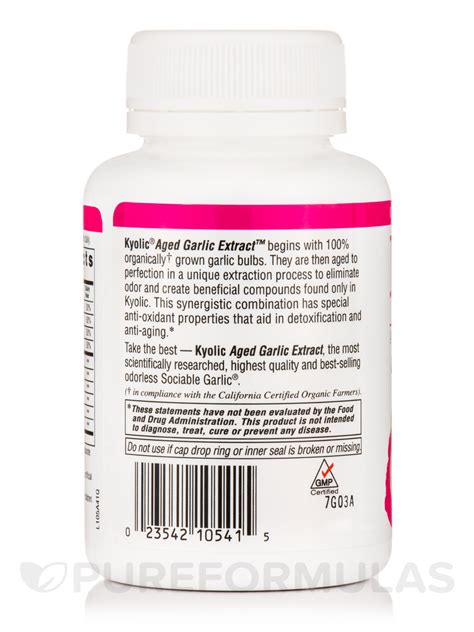 Kyolic 105 Detox by Kyolic 174 Aged Garlic Extract Formula 105 Detox And