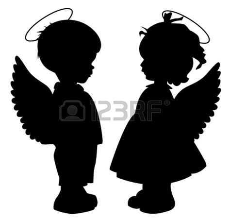 white silhouette the gallery for gt white baby angel silhouette