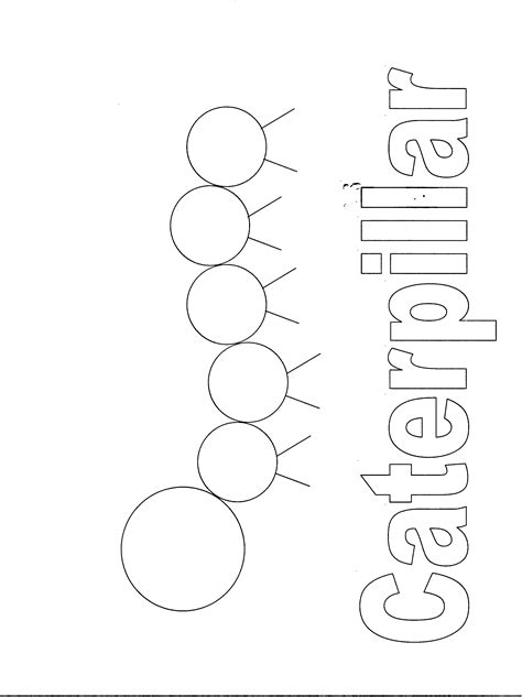 caterpillar template library program ideas abc s