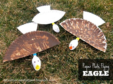 Bald Eagle Papercraft - a for practicing even and numbers