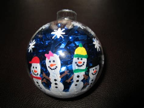 snowman handprint ornaments kindergarten christmas