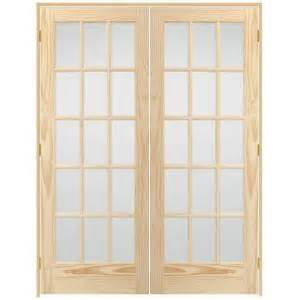 Prehung Interior French Doors Home Depot Steves Amp Sons 60 In X 80 In 15 Lite Glass Solid Core