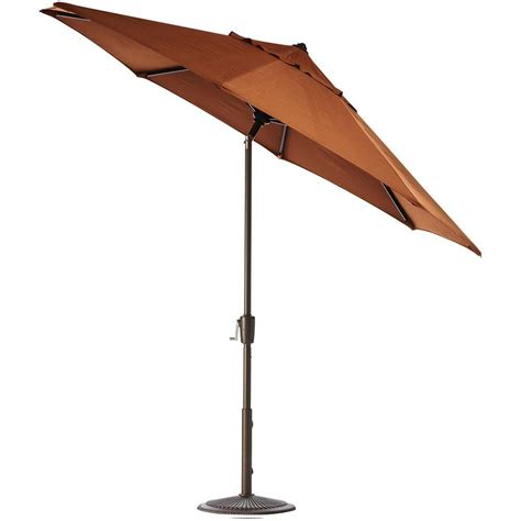 Home Decorators Collection 11 Ft Auto Tilt Patio Umbrella Patio Umbrella Frame