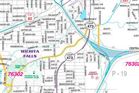 wichita falls map