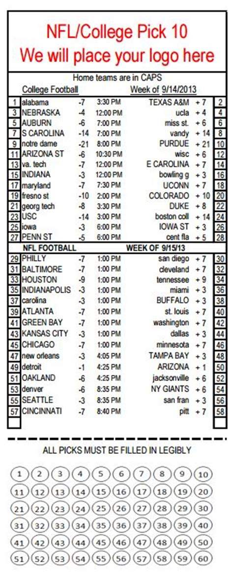 Nfl Parlay Card Template by Bar Parlay Cards Printable Parlay Cards