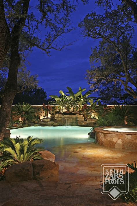 the backyard san antonio swimming pool with beach entry waterfall and spa a true