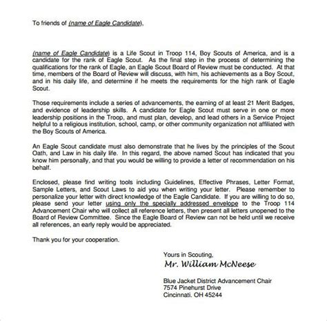 Eagle Scout Essay by 11 Best Eagle Scout Letters Of Recommendation Images On Eagle Scout Cover Letter
