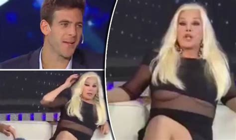 argentinian news reporter has wardrobe malfunction on live argentinian star s awkward nip slip during live interview