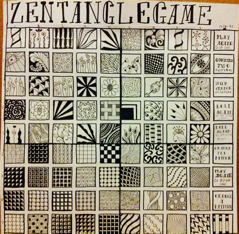 pattern play zentangle book a new zentangle game with 81 blocks to play with you will
