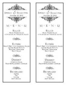 free wedding menu design templates word wedding menu template 6 wedding menu templates