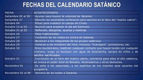 Calendario Satanico Quitandole La Mascara A