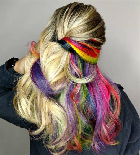 how to color hair balayage ombre paired with neons hair colors ideas