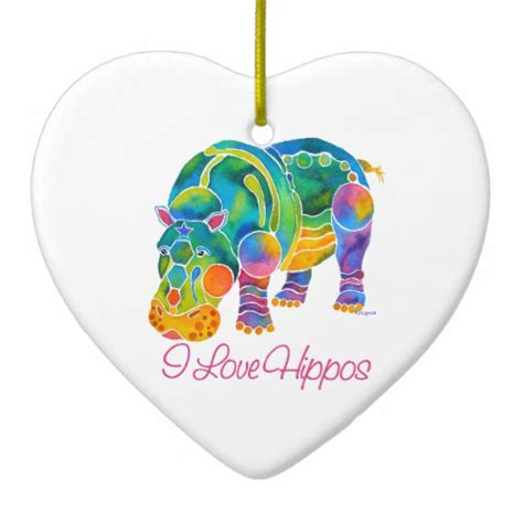 most popular i love hippos ceramic heart decoration zazzle