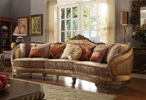 homey design hd 458 vienna wood trim mansion sofa