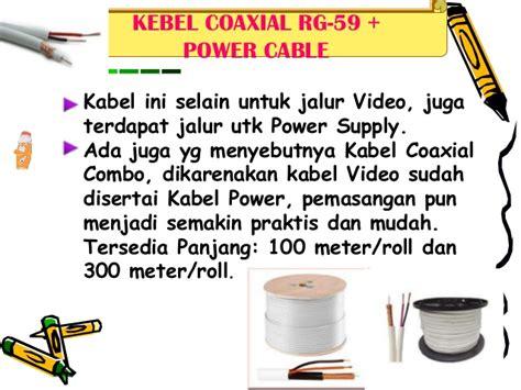 Kabel Cctv Rg 59 Power Pro Kualitas 95 1 Roll Kabel 2p 200 M langkah2 pemasagan cctv