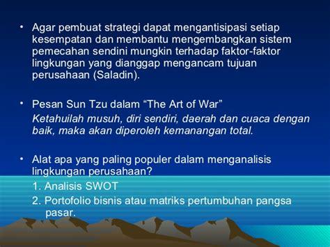 Sun Tzu Strategi Untuk Pemasaran analisis lingkungan perusahaan
