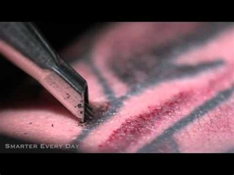slow motion tattoo motion needle