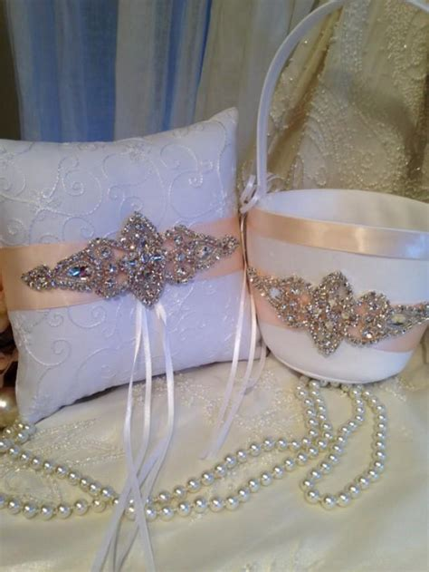 Ring Pillows And Flower Baskets by Customize Wedding Bridal Accessories Ring Bearer Pillow Flower Basket Pillow Basket Ring