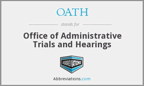 Office Of Administrative Hearings Oath Office Of Administrative Trials And Hearings
