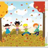 Happy Kids In Autumn Royalty Free Stock Images - Image: 16296159