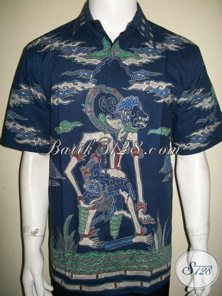 Jaket Anak Warna Biru Keren kemeja batik wayang hanoman warna biru unik dan keren bro
