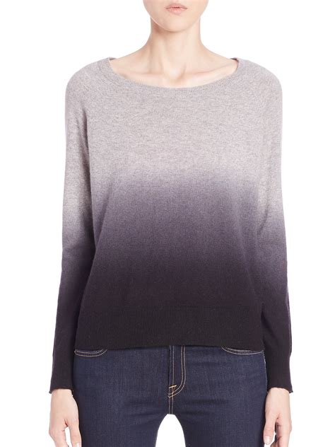 Sweater Ombre Lyst 360cashmere Skull Ombr 233 Sweater In Gray