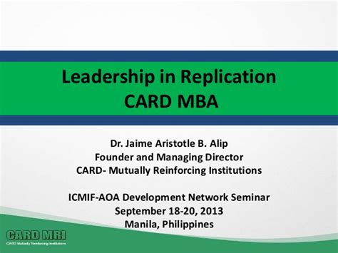 Card Mba by Leaderhsip In Replication Card Mba