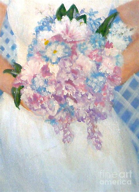 Wedding Bouquet Painting by Wedding Bouquet By Nancy Rucker