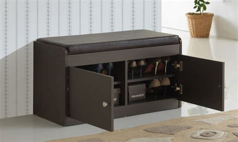 Shoe Storage Bench With Seat Shoe Organizer Bench In Benches And Ottomans Shoe Storage Bench