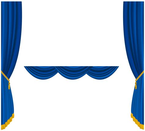 Navy Blue And White Drapes Clip Art Blue Curtains Clipart Clipart Suggest
