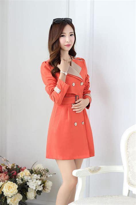 Jaket Endot Baju Wanita jaket wanita korea orange windbreaker jacket