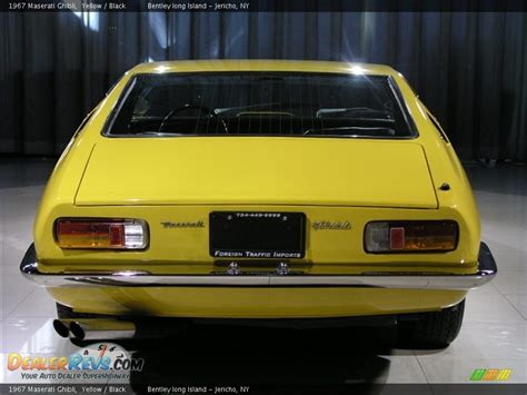 yellow maserati ghibli 1967 maserati ghibli yellow black photo 20 dealerrevs com
