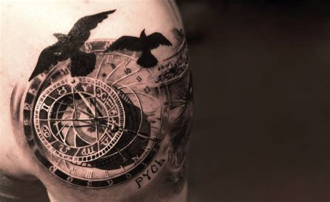 old clock tattoo vintage clock tattoos on clock design
