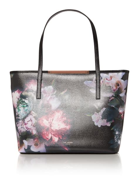 Totebag Flowly Flower ted baker lietta black floral large tote bag in pink lyst