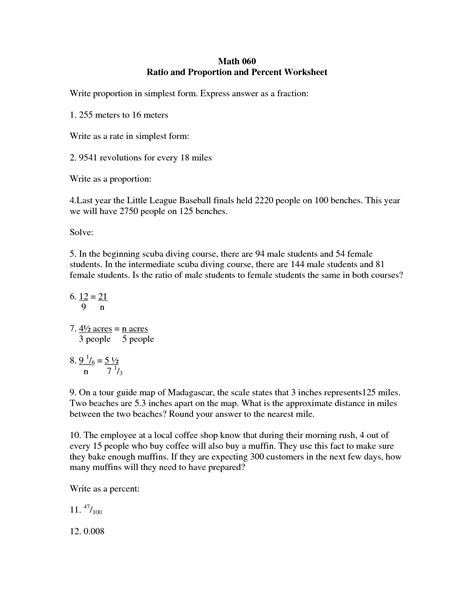 Percent Proportions Worksheet by 9 Best Images Of Proportion Word Problems Worksheet