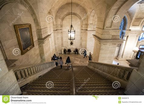 New York Library Interior by The New York Library Interior Editorial Stock Image