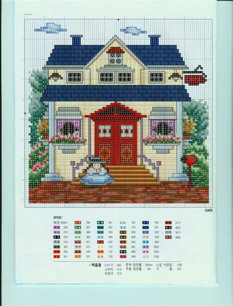 house pattern cross stitch 162 best counted cross stitch houses images on pinterest