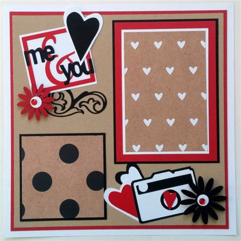 scrapbook layout for boyfriend couples premade scrapbook page boyfriend scrapbook
