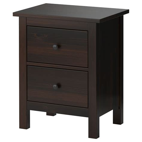 Ikea Nightstand Black hemnes chest with 2 drawers black brown