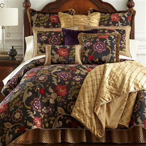 escapade black floral comforter bedding by austin horn